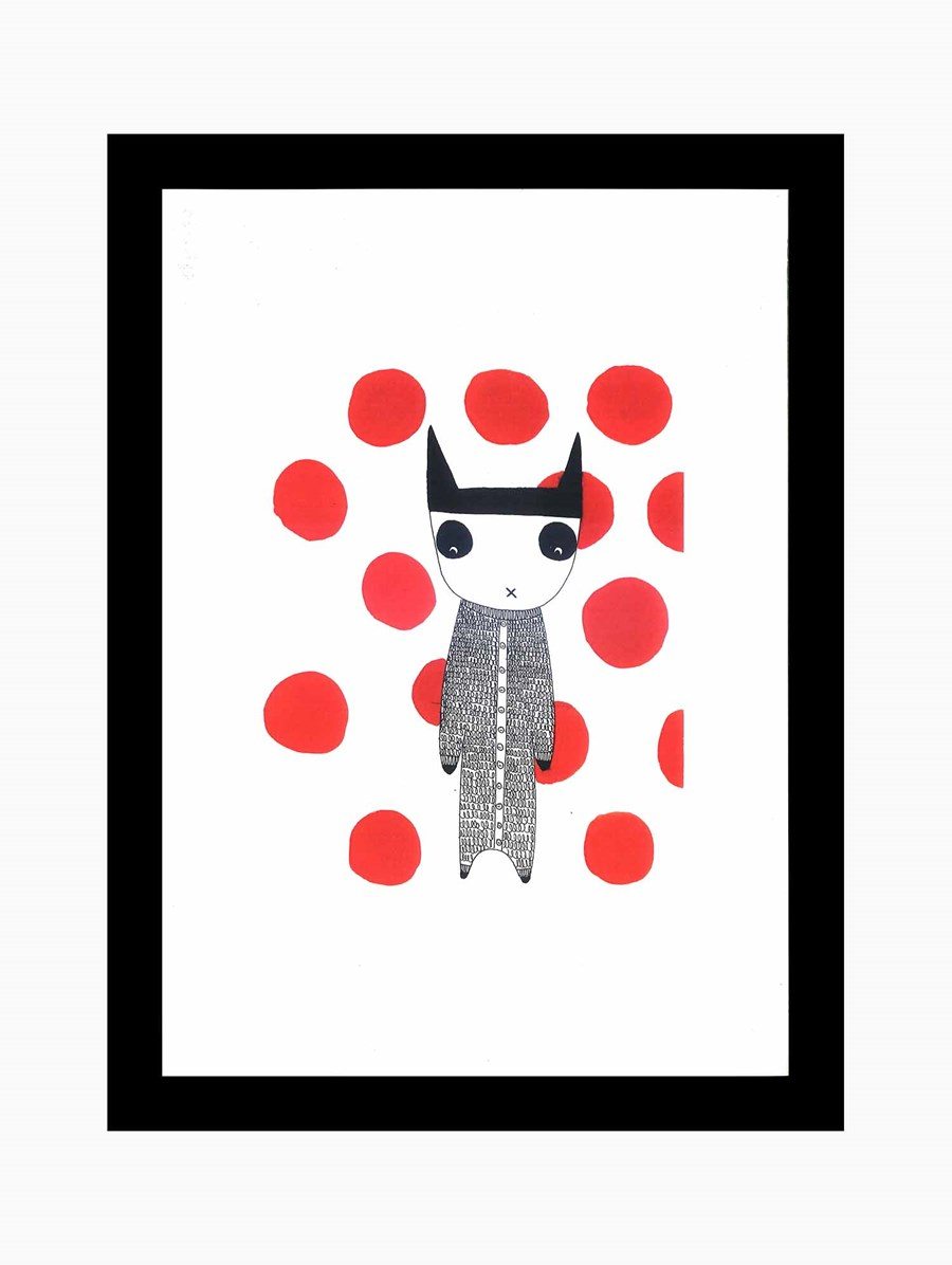 Paperwork Red Dots Poster