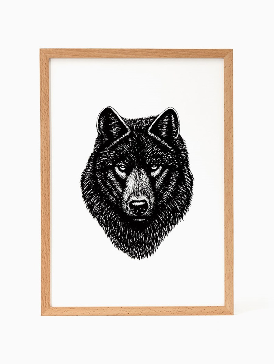 Nice To Have Gray Wolf Print