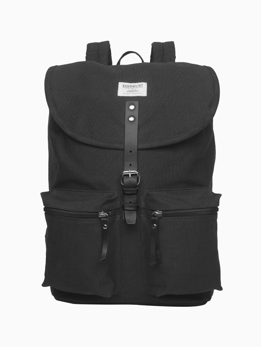 Sandqvist Roald Black Backpack