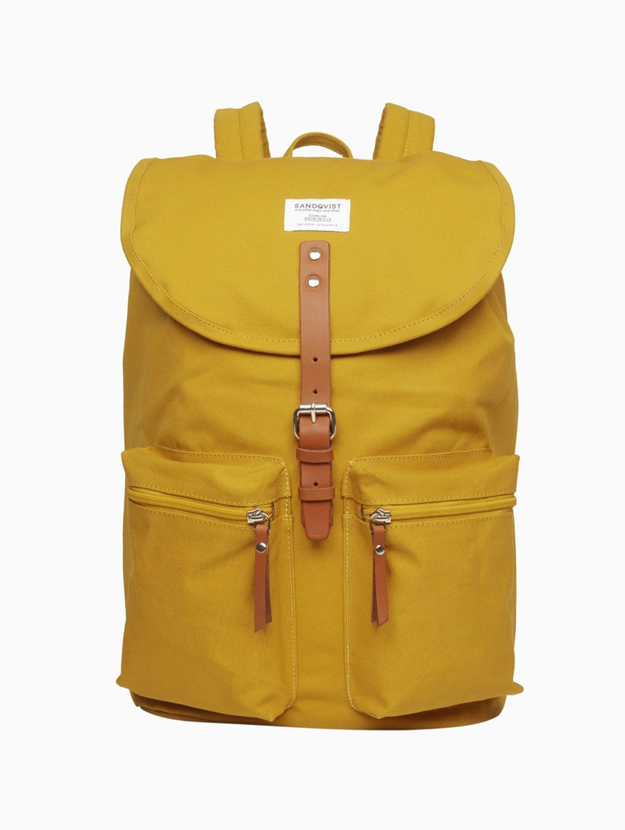 Sandqvist Roald Yellow Backpack