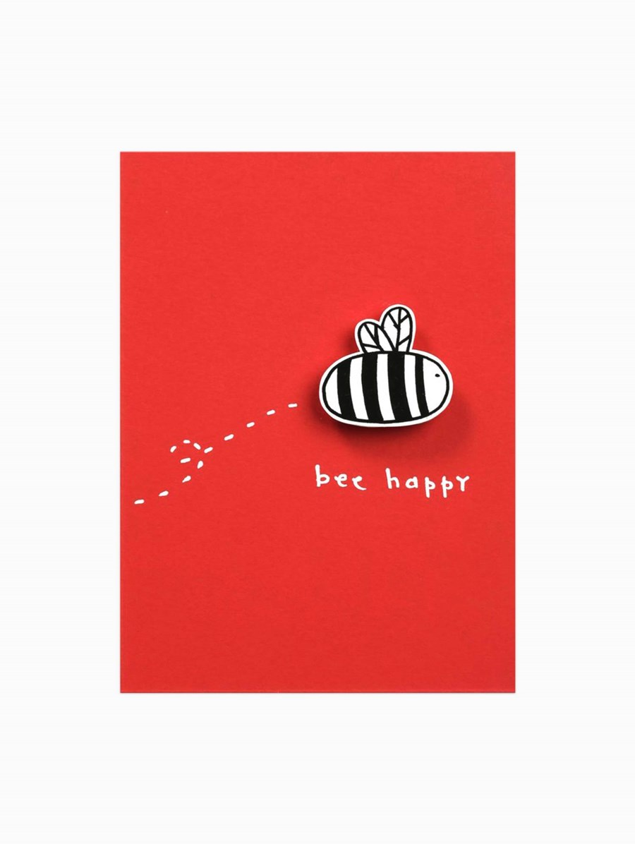Happy Pincards Bee Happy