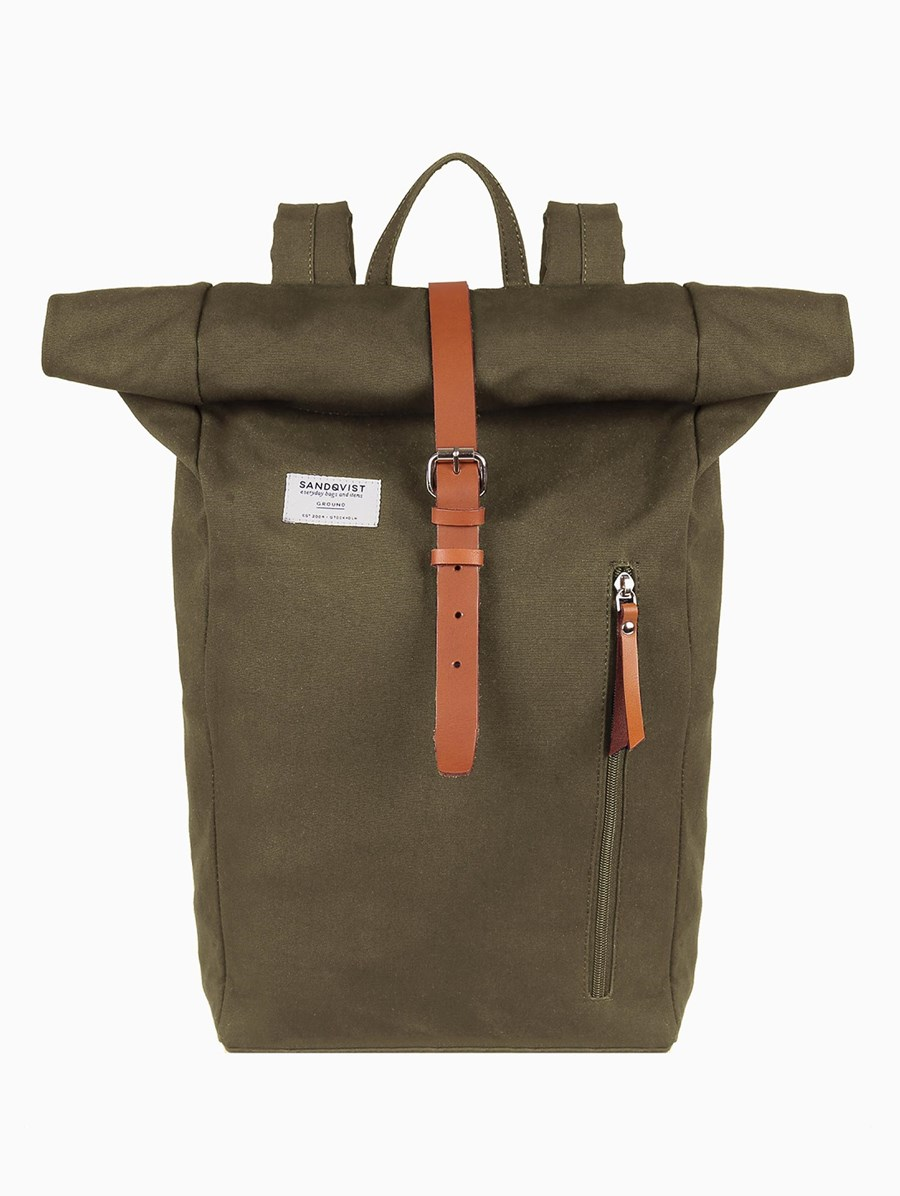 Sandqvist Dante Olive Backpack