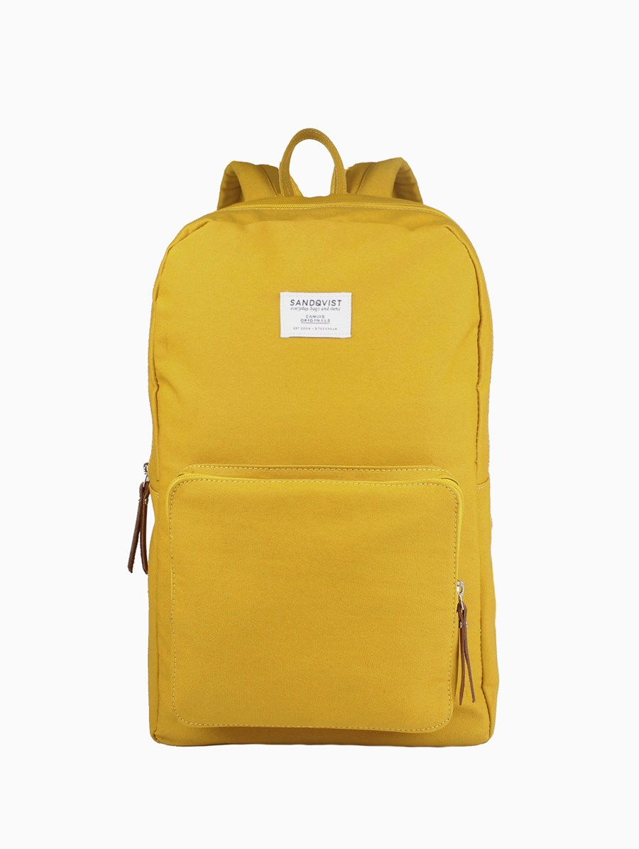 Sandqvist Kim Yellow Backpack