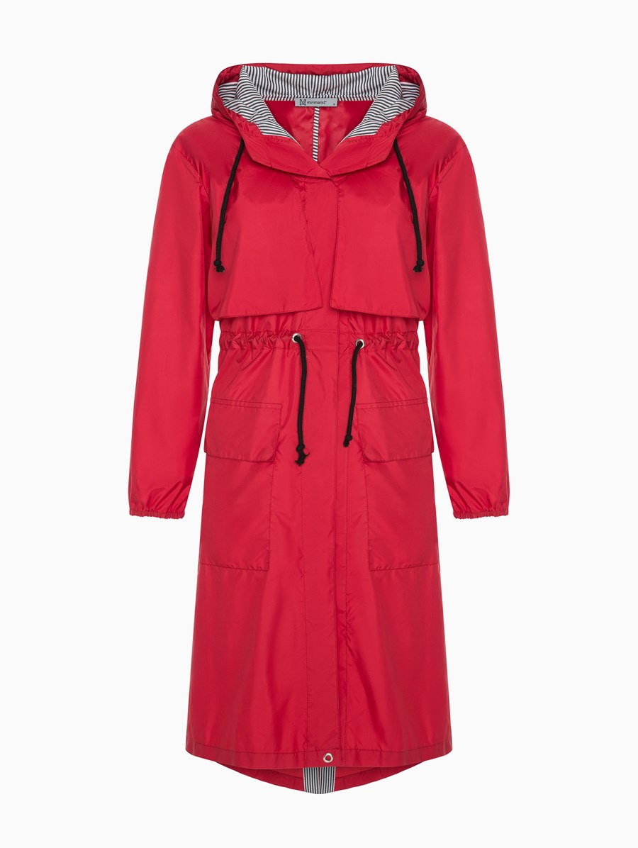 Mirimalist Red Raincoat