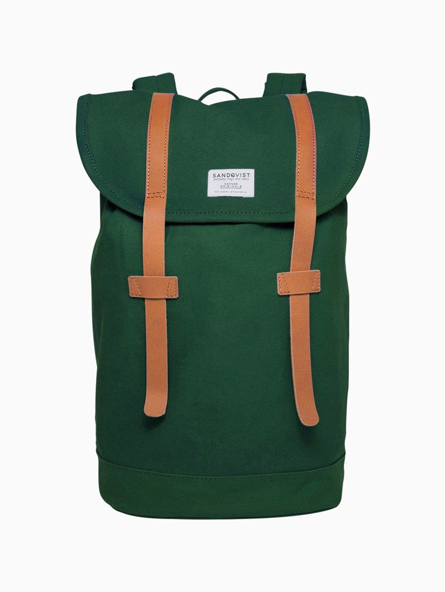 Sandqvist Stig Forest Green Backpack