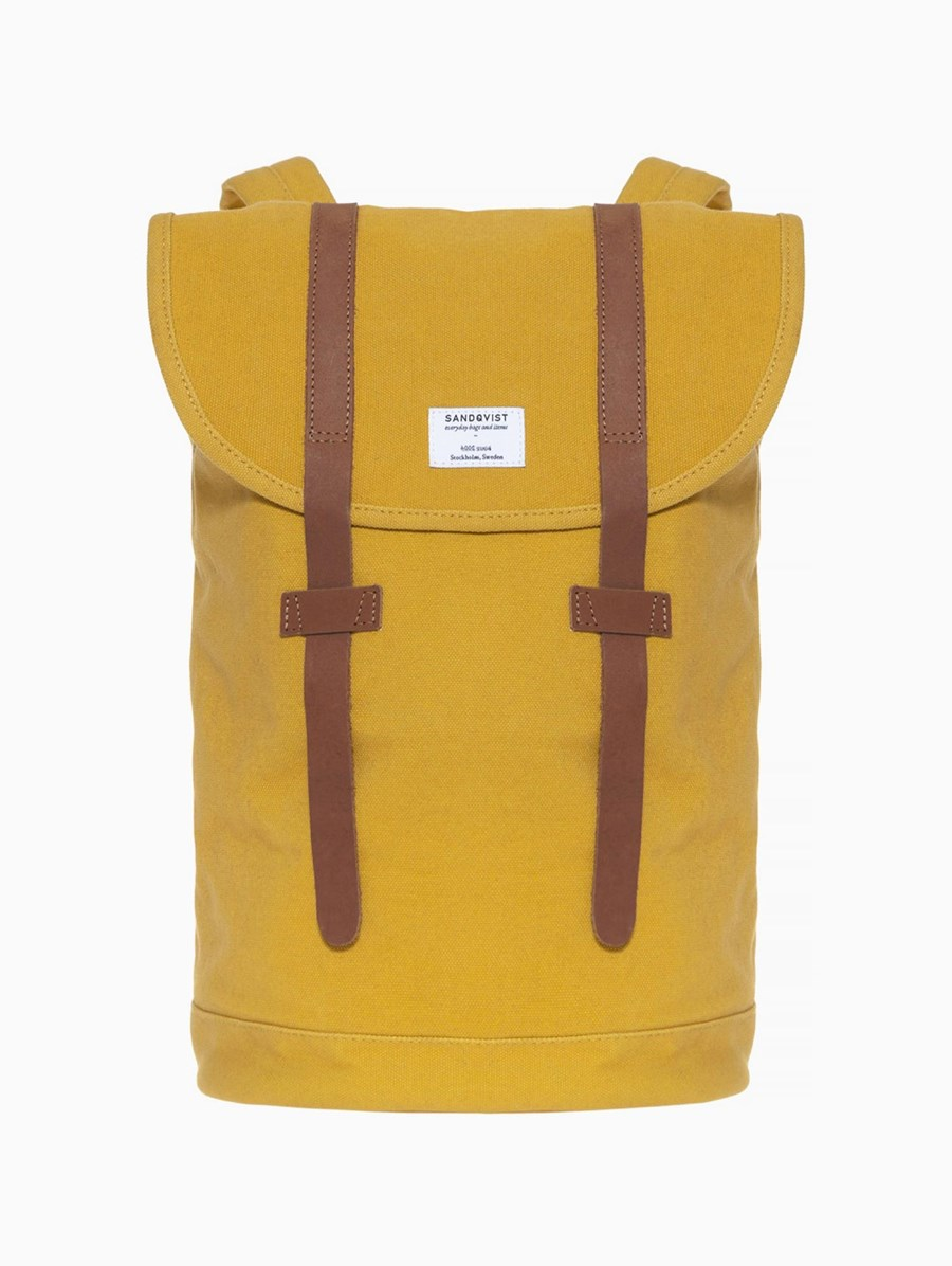 Sandqvist Stig Yellow Backpack