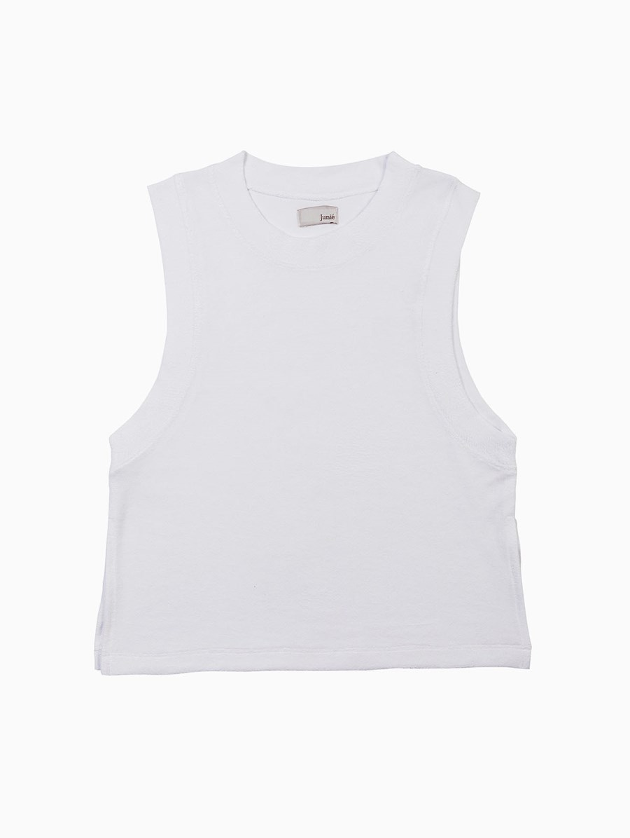 Junie Beyaz Terry Tank Top