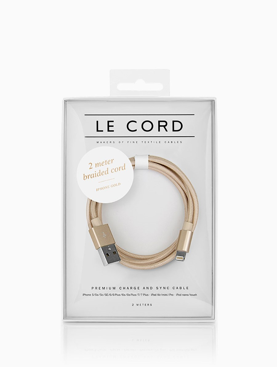Le Cord Solid Gold 2 Metre