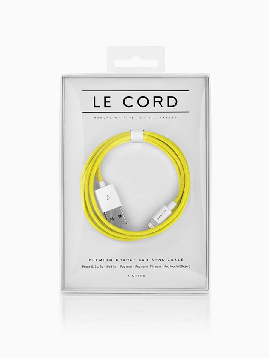 Le Cord Solid Yellow