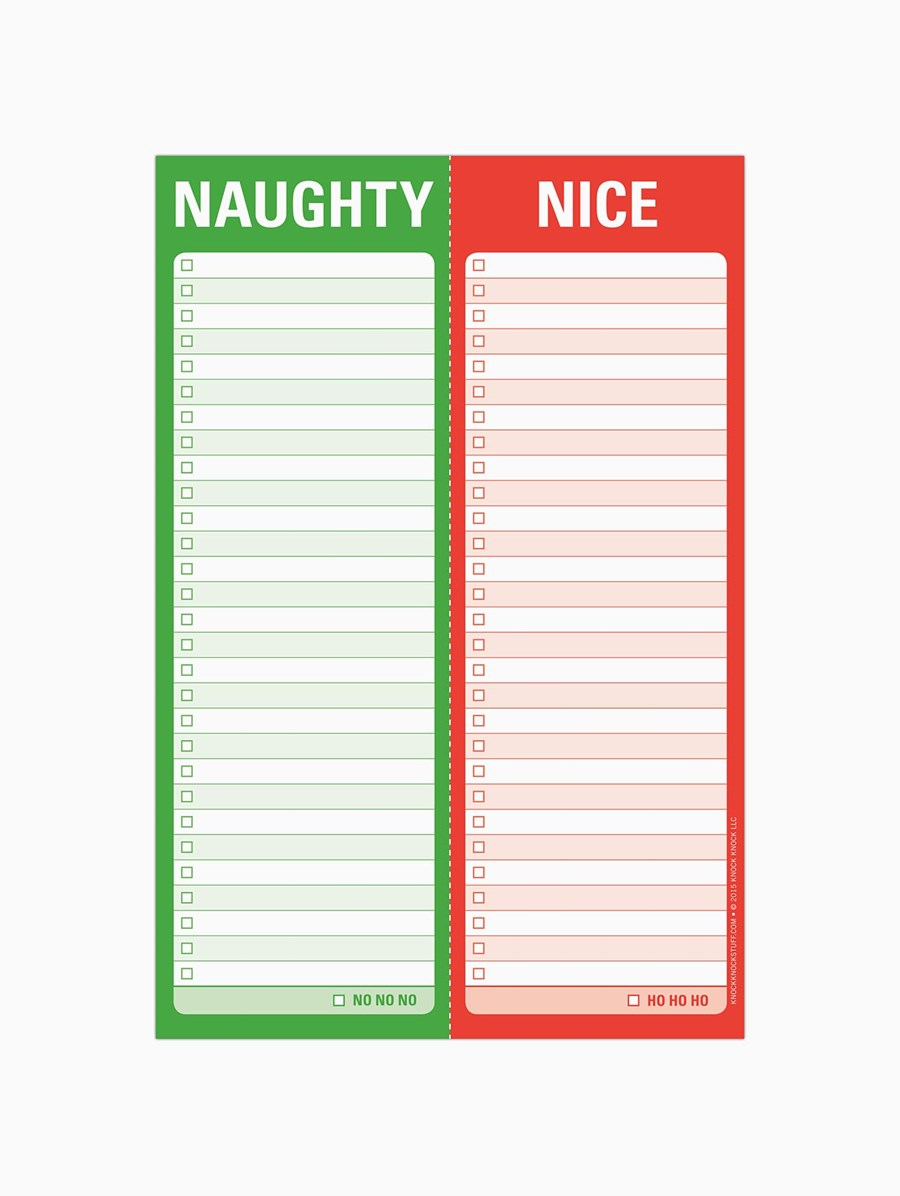 Knock Knock Delikli Bloknot: Naughty / Nice Perforated
