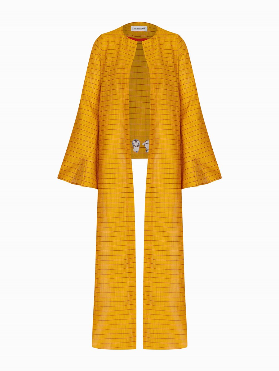 Incomplit Yellow No Mask Kaftan