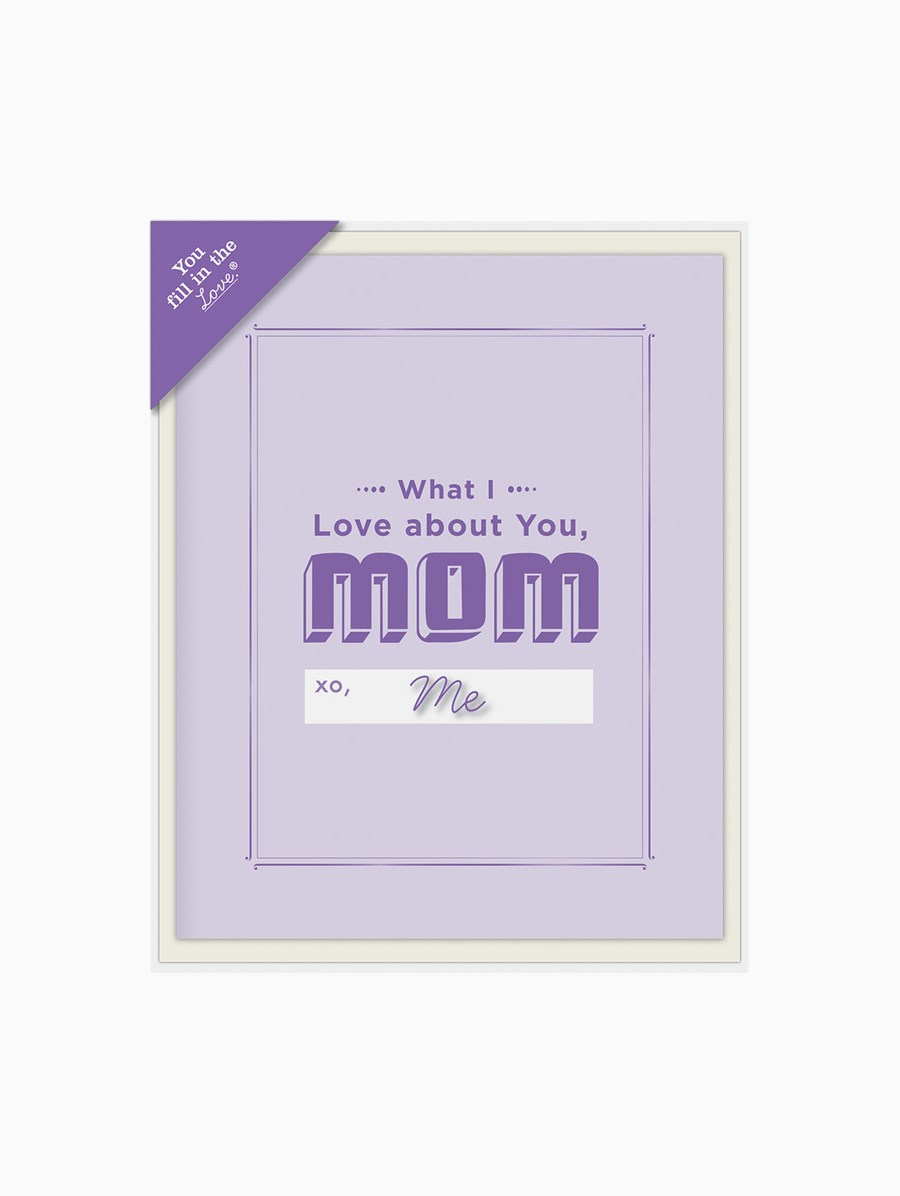 Knock Knock What I Love About Mom Fill in the Love Kartpostal