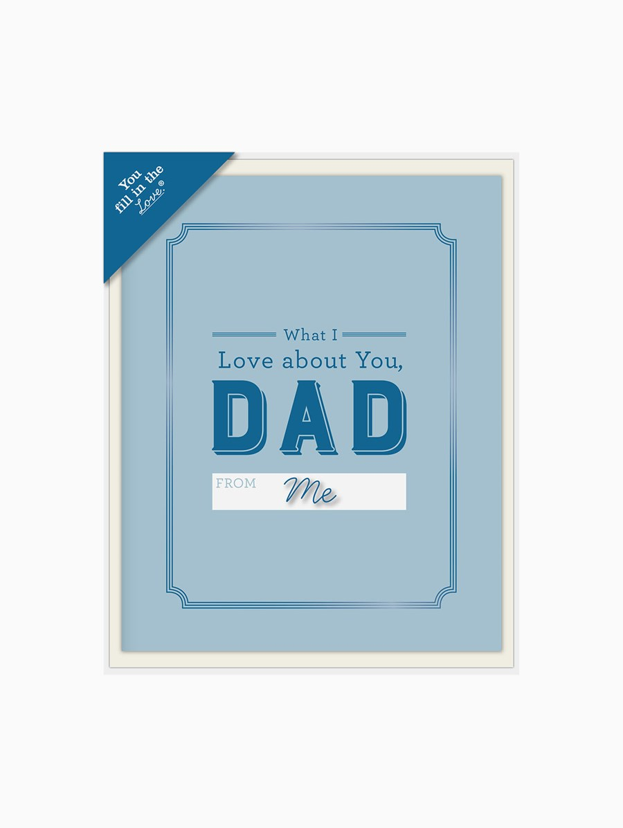 Knock Knock What I Love About Dad Fill in the Love Kartpostal