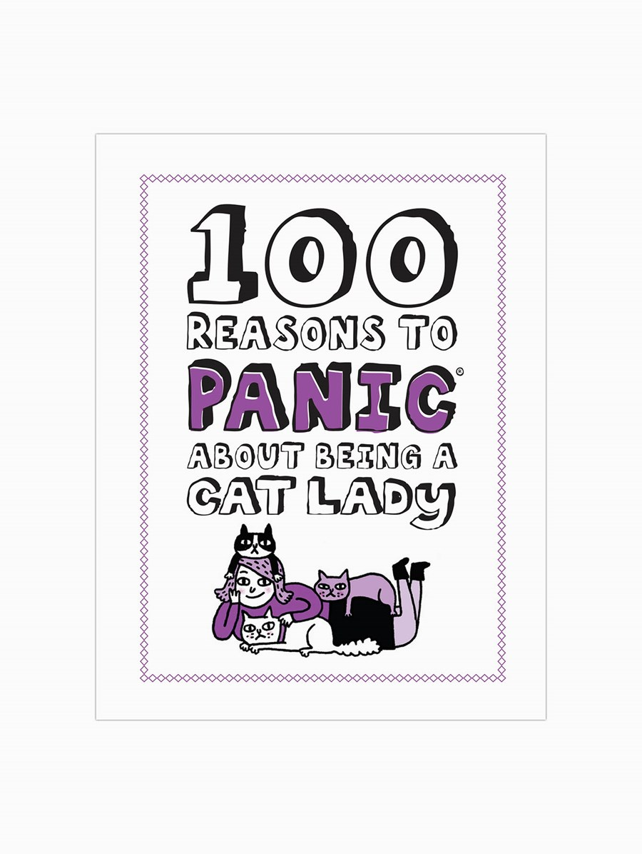 Knock Knock 100 Reasons to Panic About: Being a Cat Lady Kitap