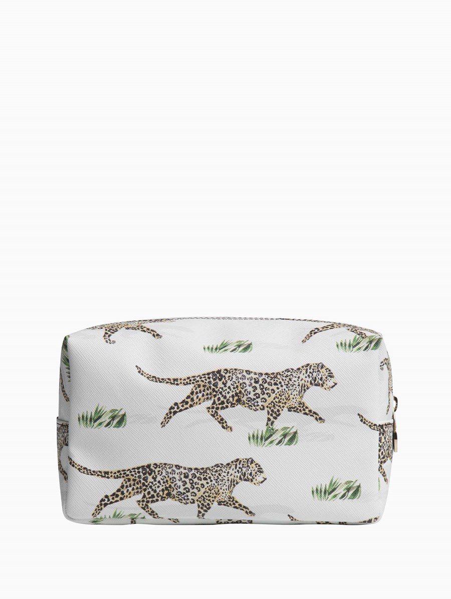 Fonfique Bacio Make-up Bag Leopards