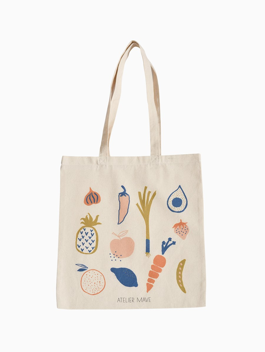Atelier Mave Vegetables and Fruits Tote Bag
