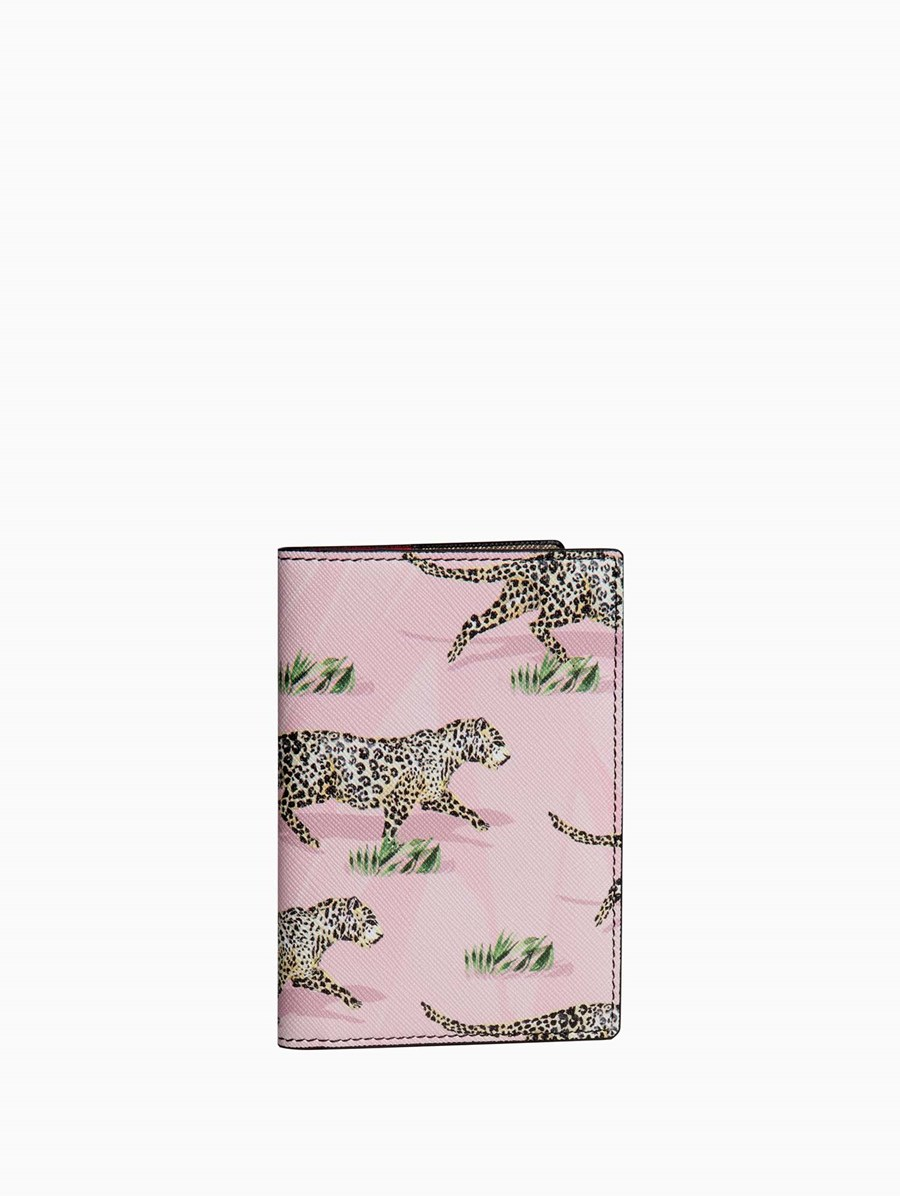Fonfique Gemma Passport Holder Leopards