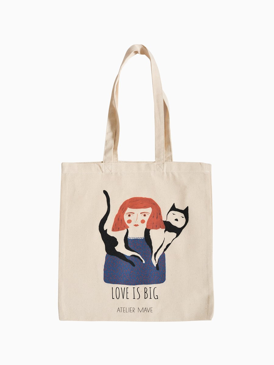 Atelier Mave Love Is Big Tote Bag