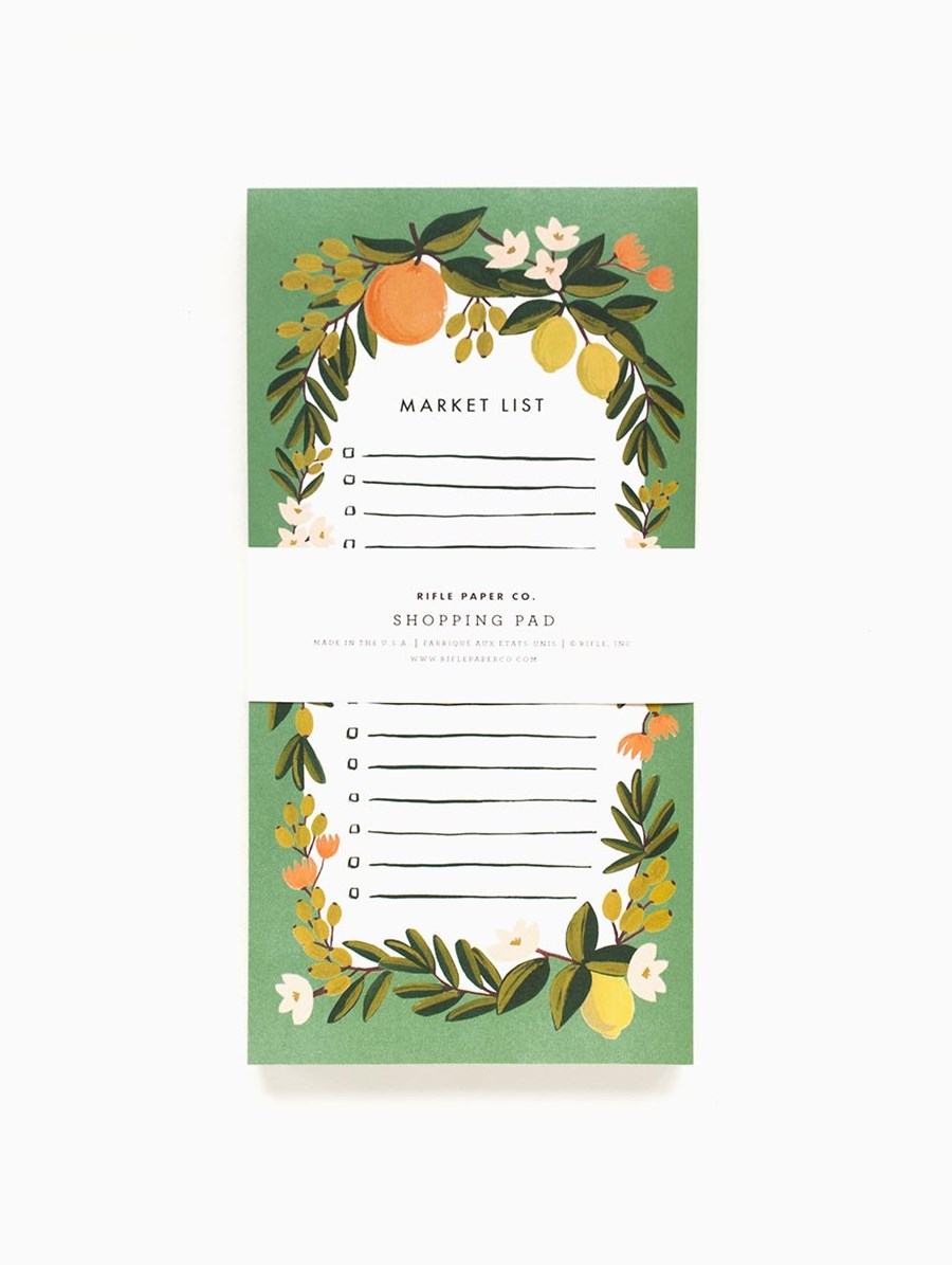 Rifle Paper Citrus Floral Market List
