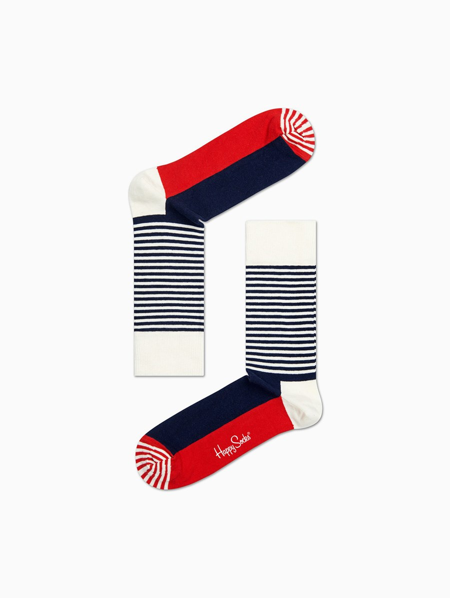 Happy Socks Half Stripe Çorap