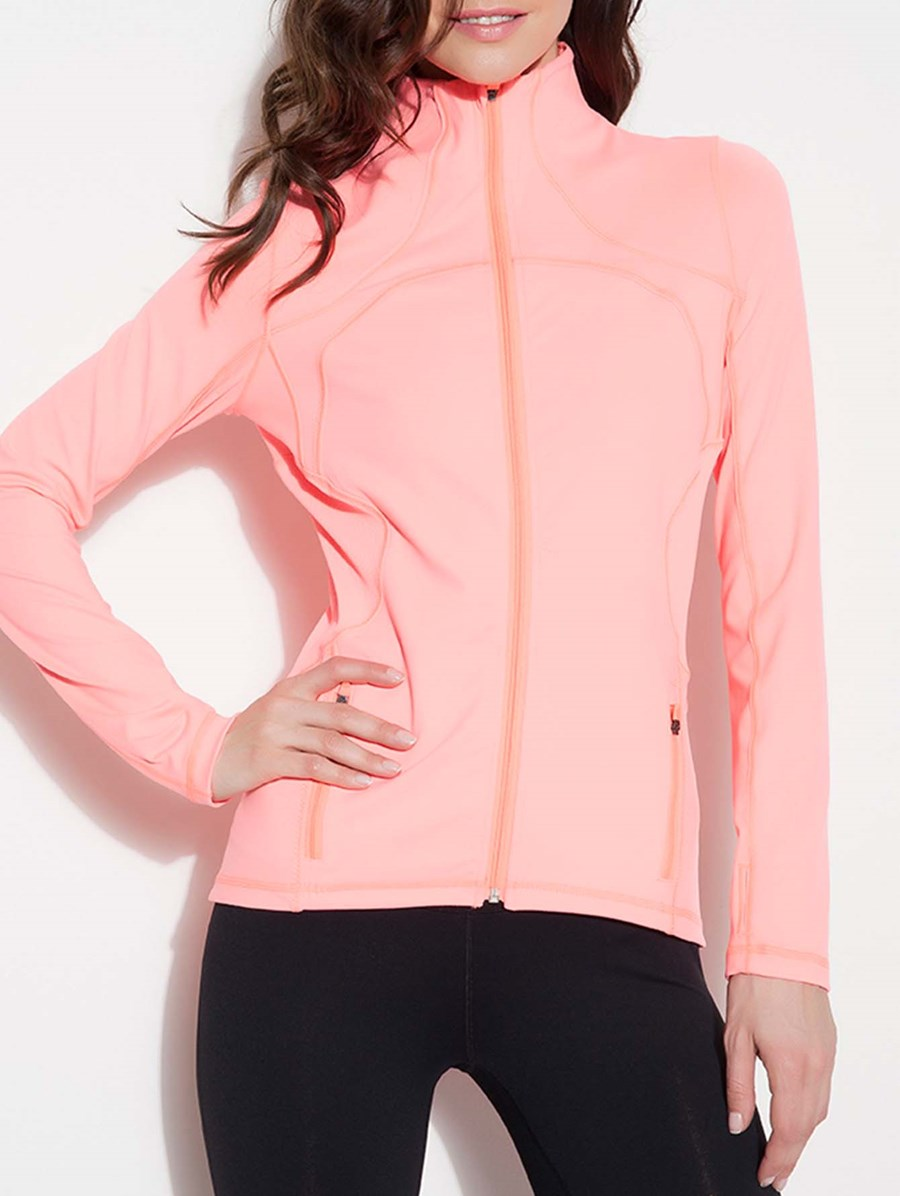 Chikirina Zip It Up Jacket Peach