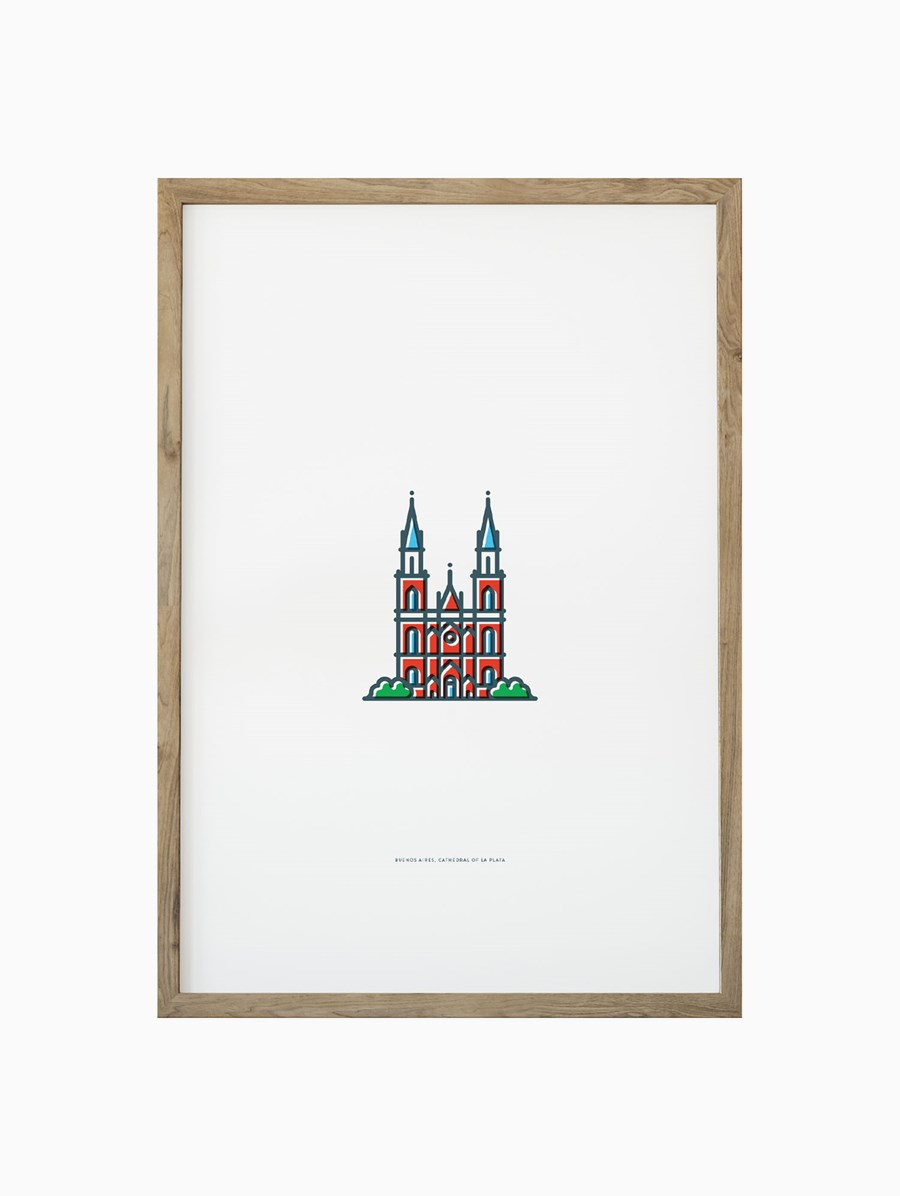Symbolicities Buenos Aires, Cathedral of La Plata 30x40 cm Baskı