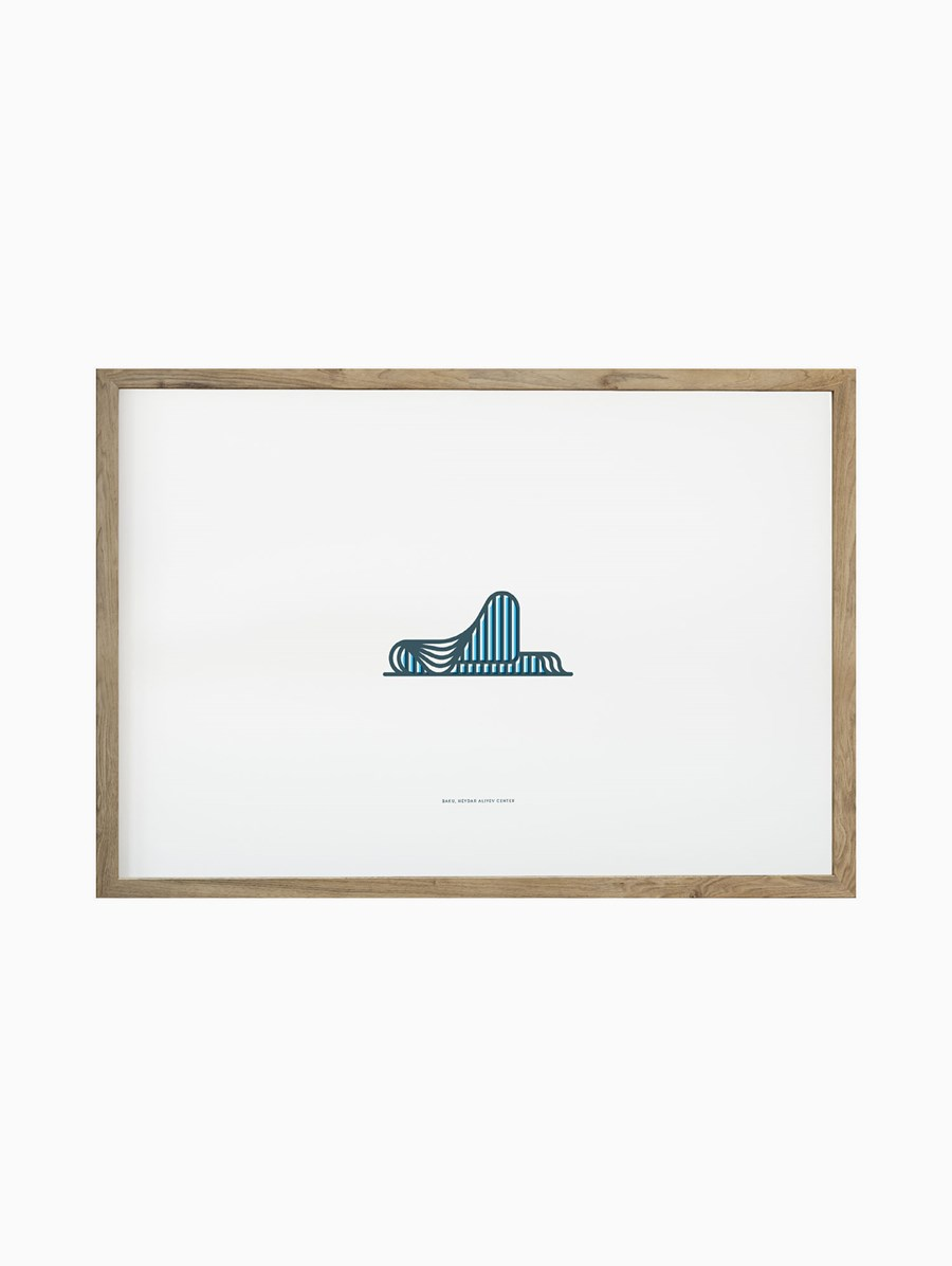 Symbolicities Bakü, Heydar Aliyev Center 30x40 cm Baskı