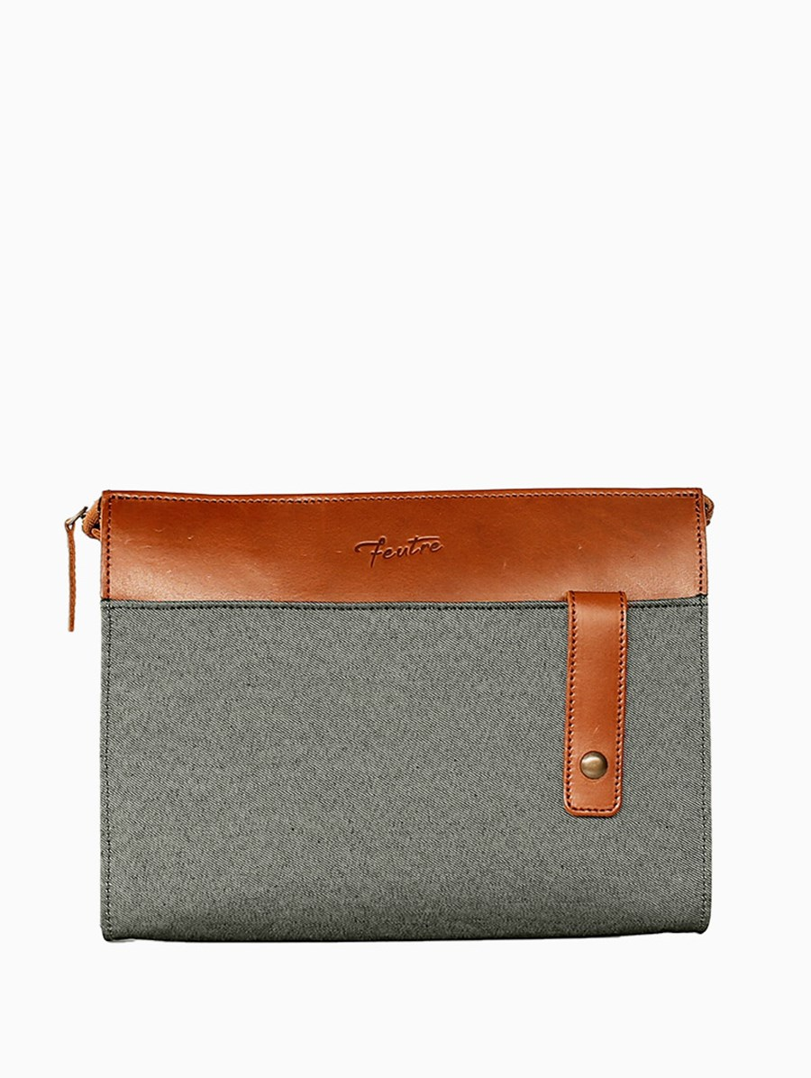 Feutre Journey The Sun Clutch Mavi