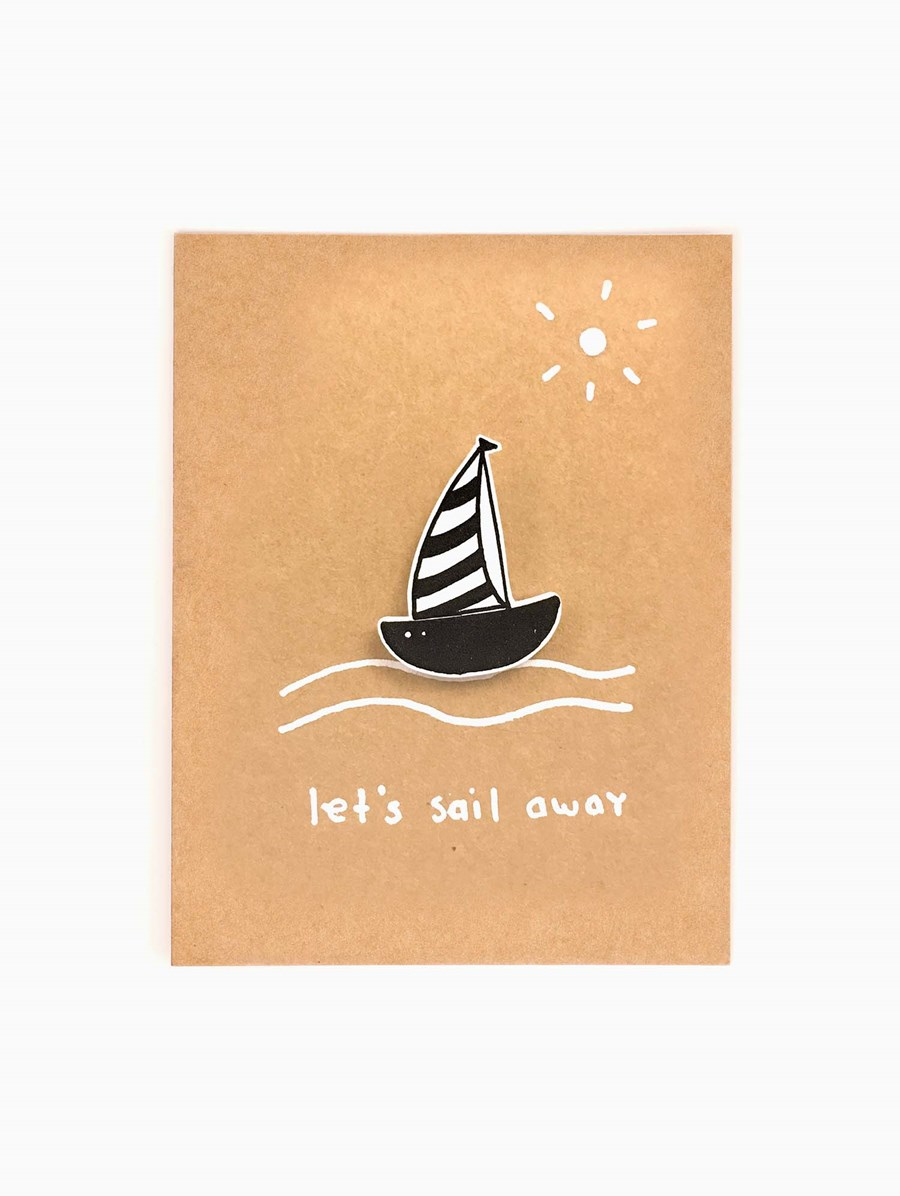 Happy Pincards Let's Sail Away Broş