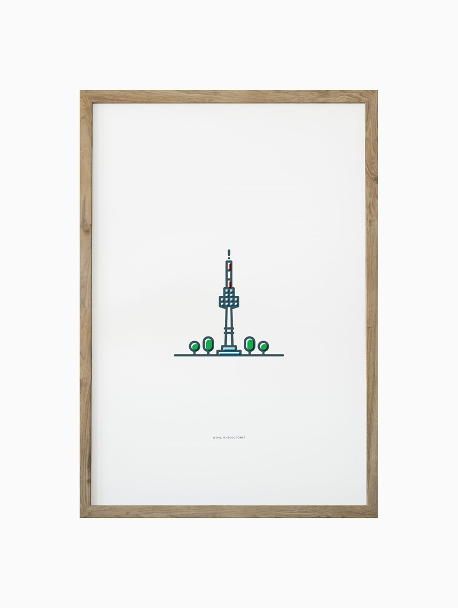 Symbolicities Seul, N Seoul Tower 30x40 cm Baskı