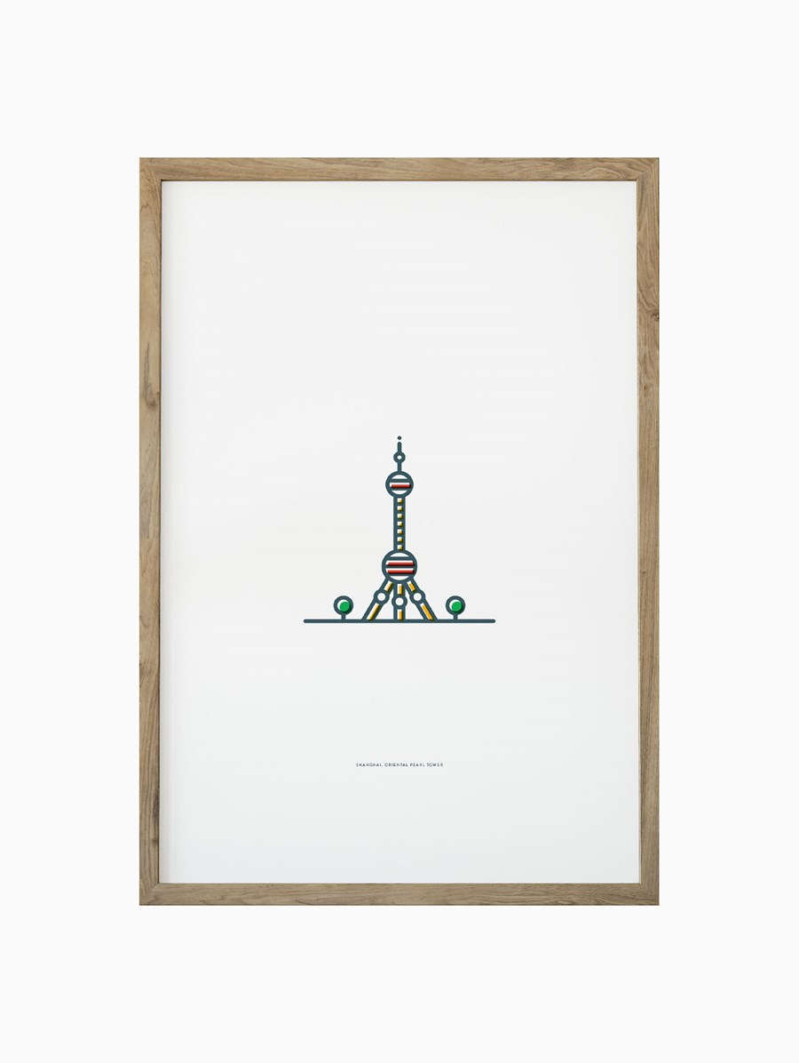Symbolicities Şangay, Oriental Pearl Tower 30x40 cm Baskı