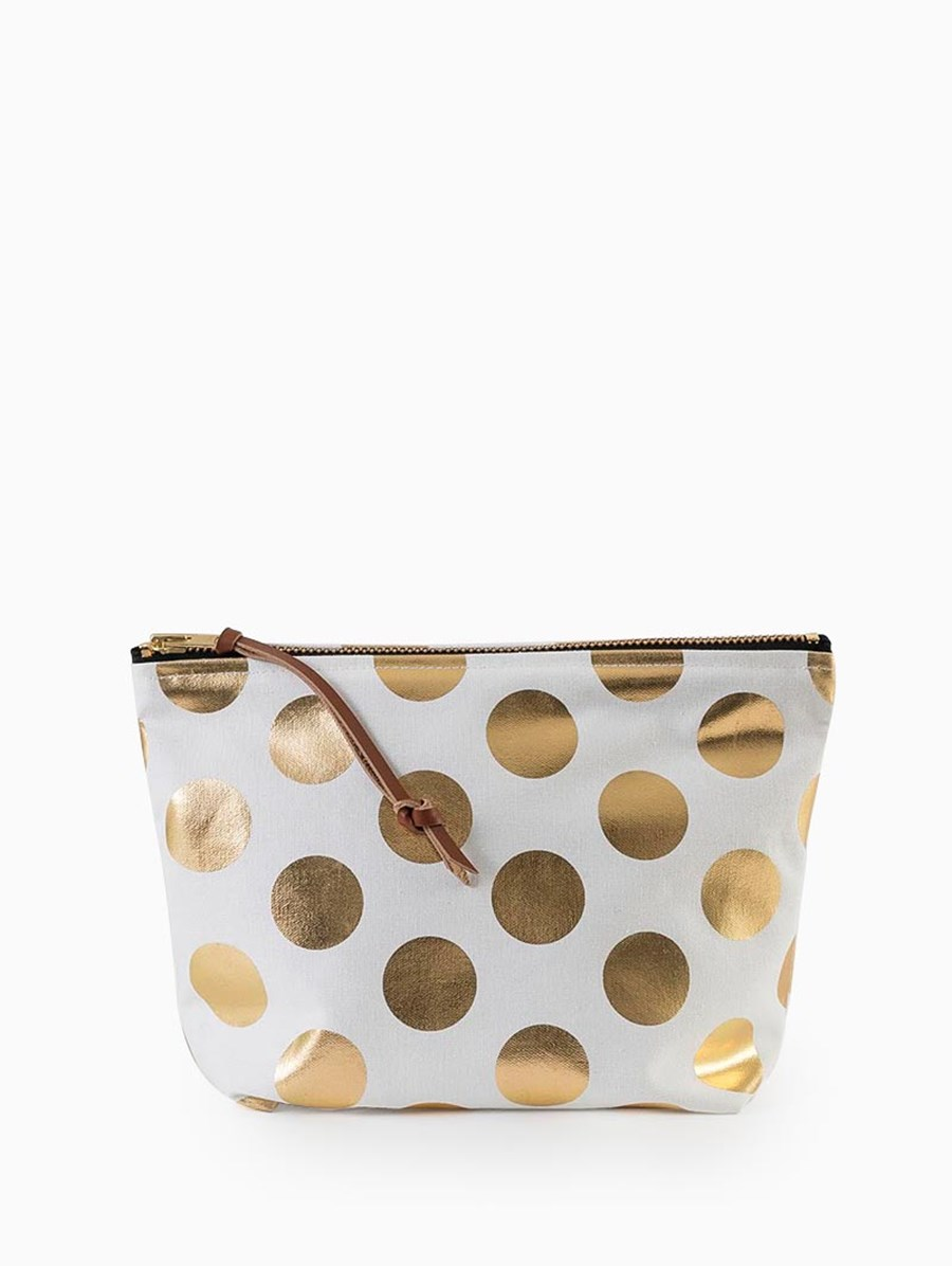 Egg Polka Dot Clutch Gold