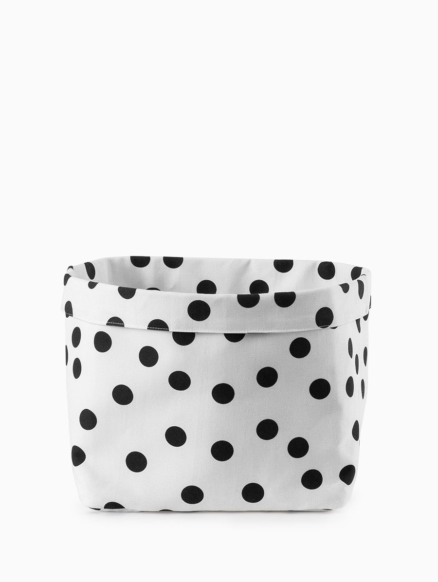 Egg Polka Dot Storage Basket Large