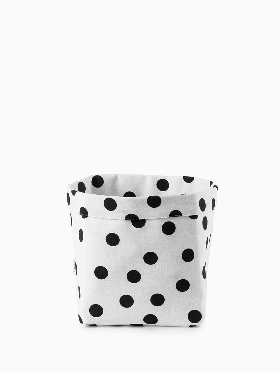 Egg Polka Dot Storage Basket Medium
