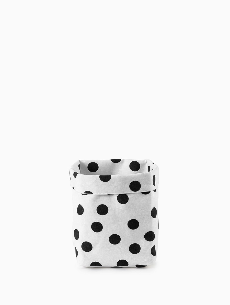 Egg Polka Dot Storage Basket Small