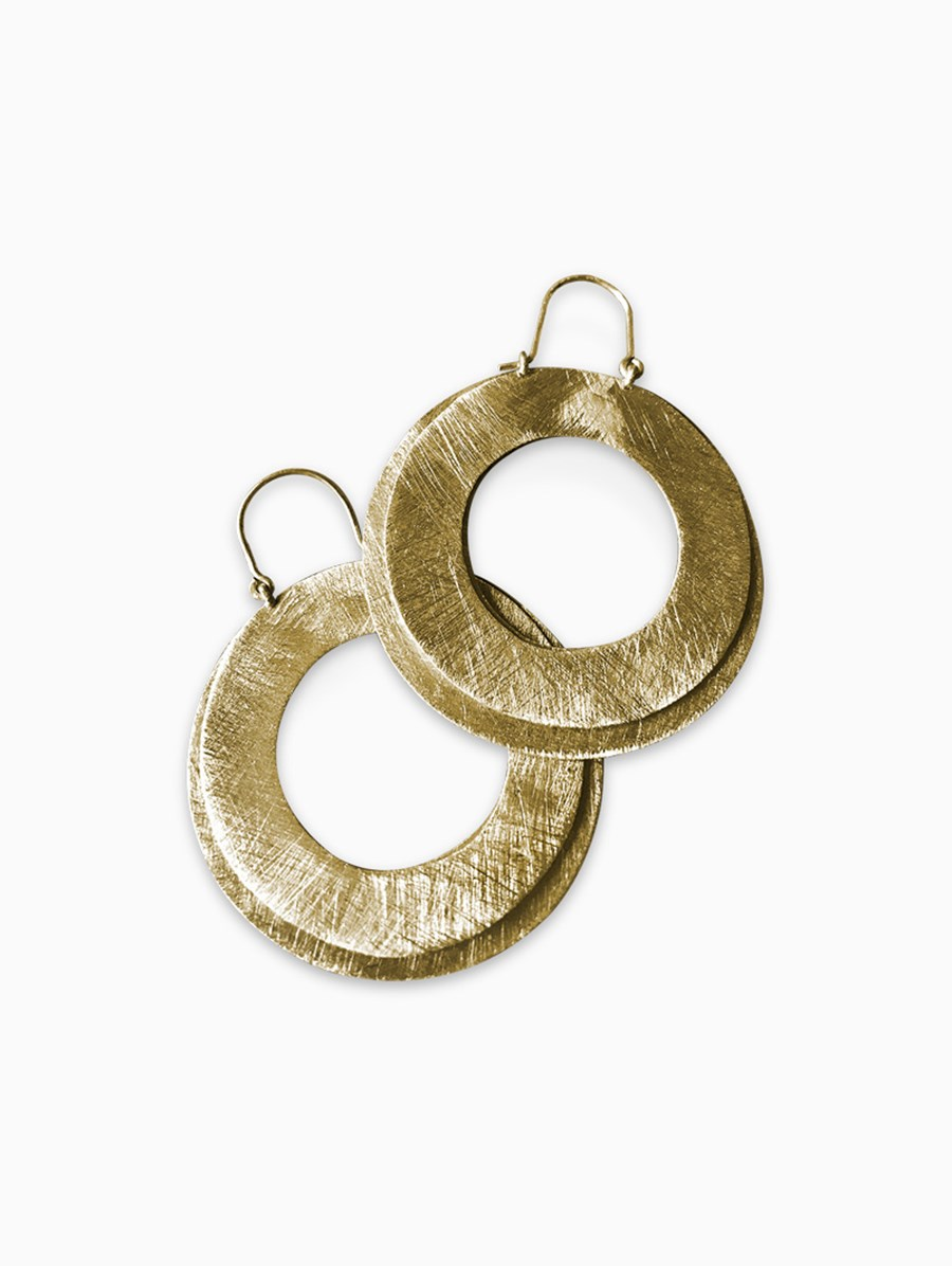 Unadorned Jewelry Design Twice Hoops Küpe